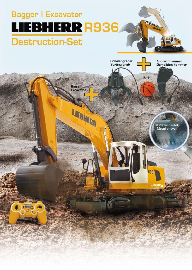 Bagger Liebherr R936 120 24g Destruction Set Jamara Rc 405112