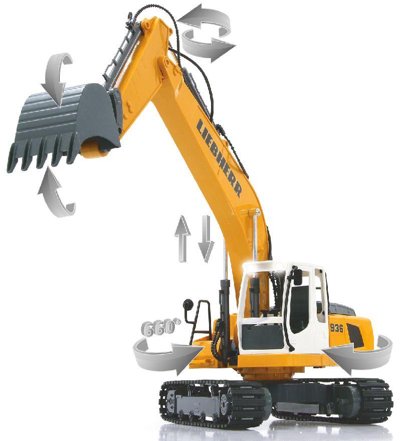 Bagger Liebherr R936 120 24g Jamara Rc 405060