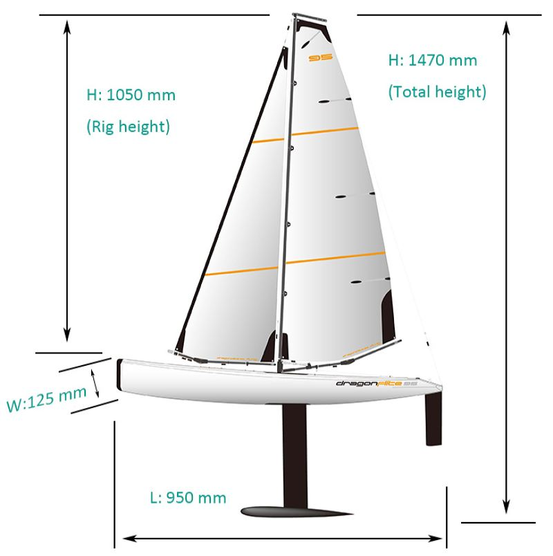 Sailboat RTR 2.4G Dragon Flite 95 - Bild 5